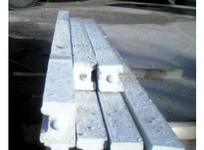 Concrete Slotted End Posts